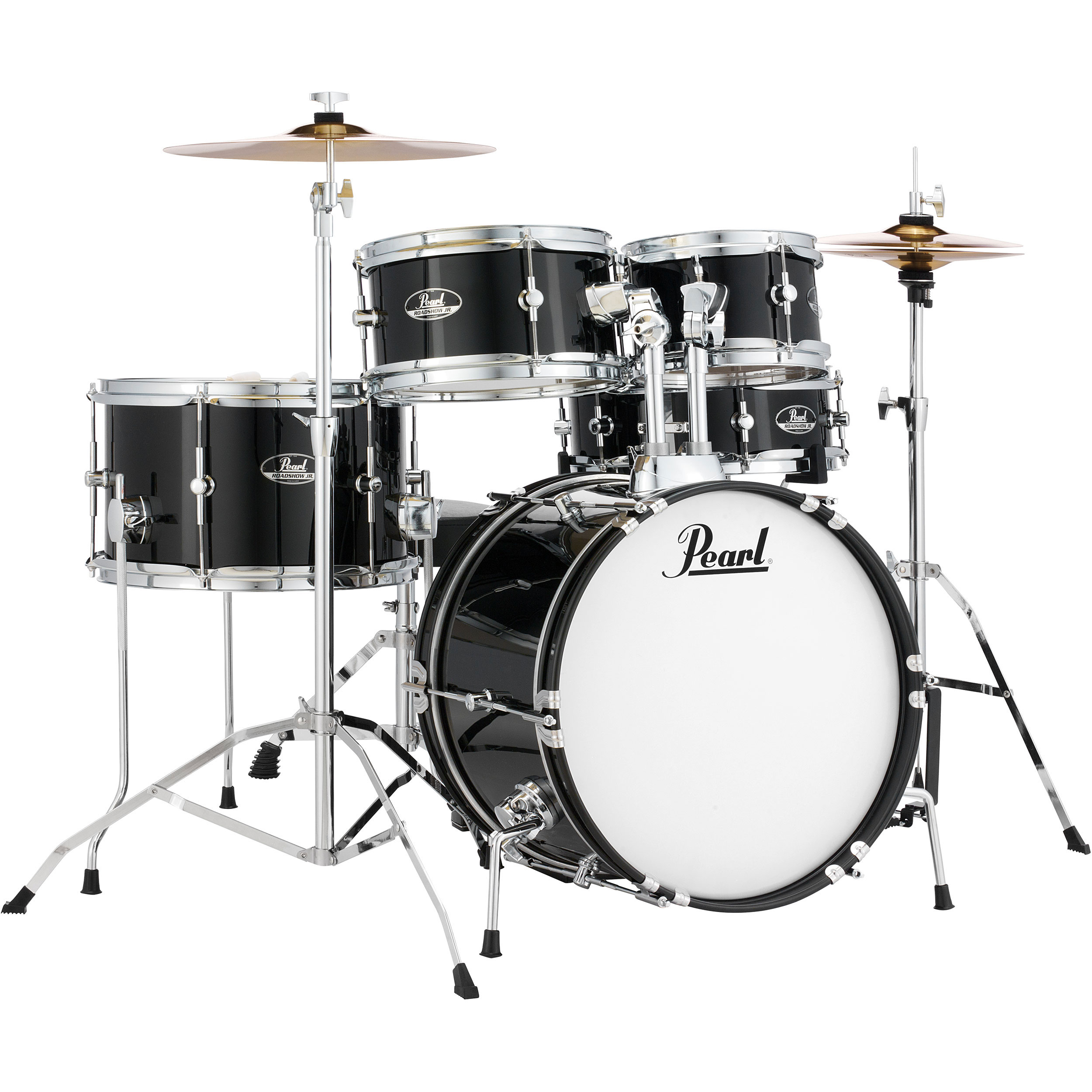 "Pearl Roadshow Jr. 5-Piece Drum Set with Hardware and Cymbals (16"" Bass, 8/10/13"" Toms, 12"" Snare)"