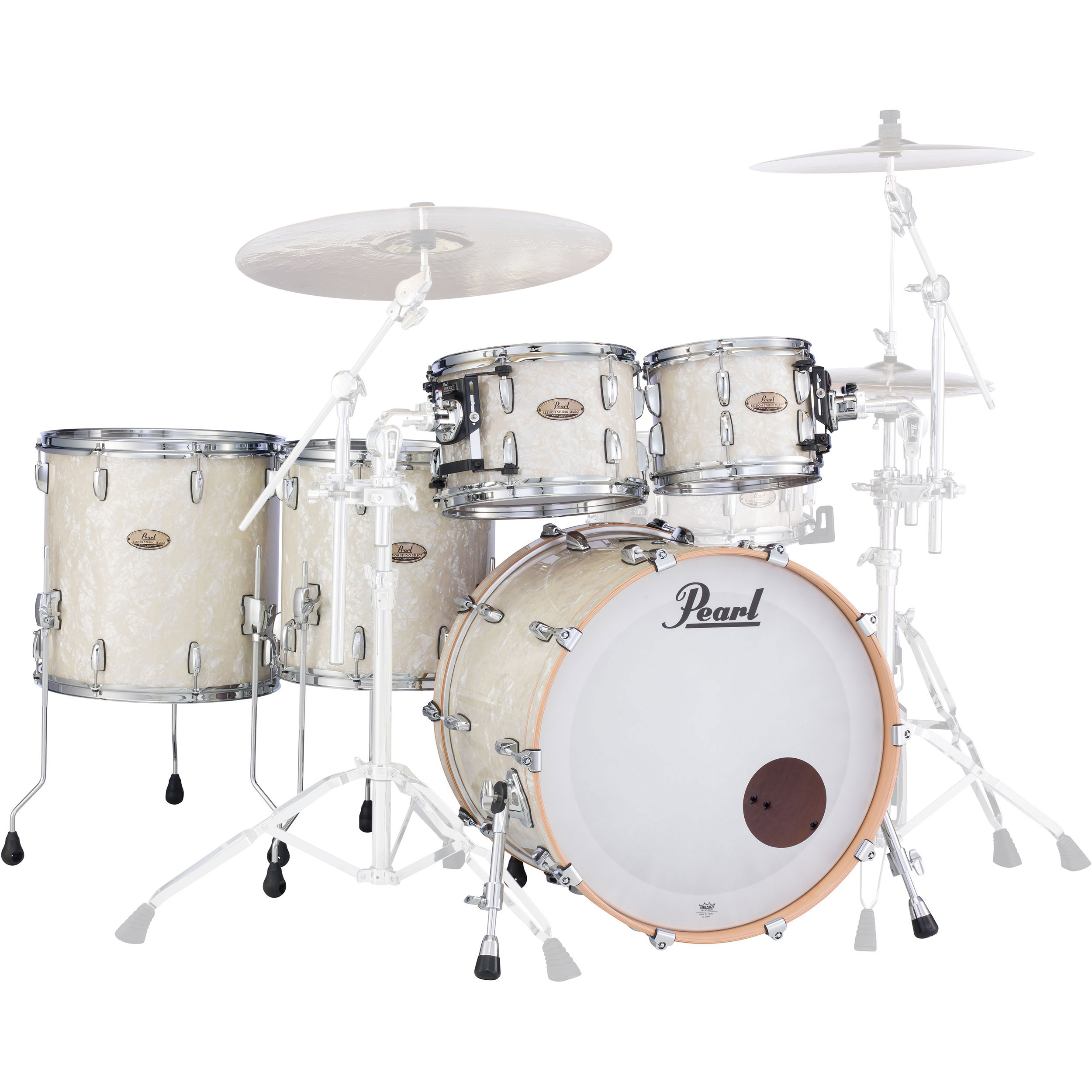 "Pearl Session Studio Select 5-Piece Drum Set Shell Pack (22"" Bass, 10/12/14/16"" Toms)"
