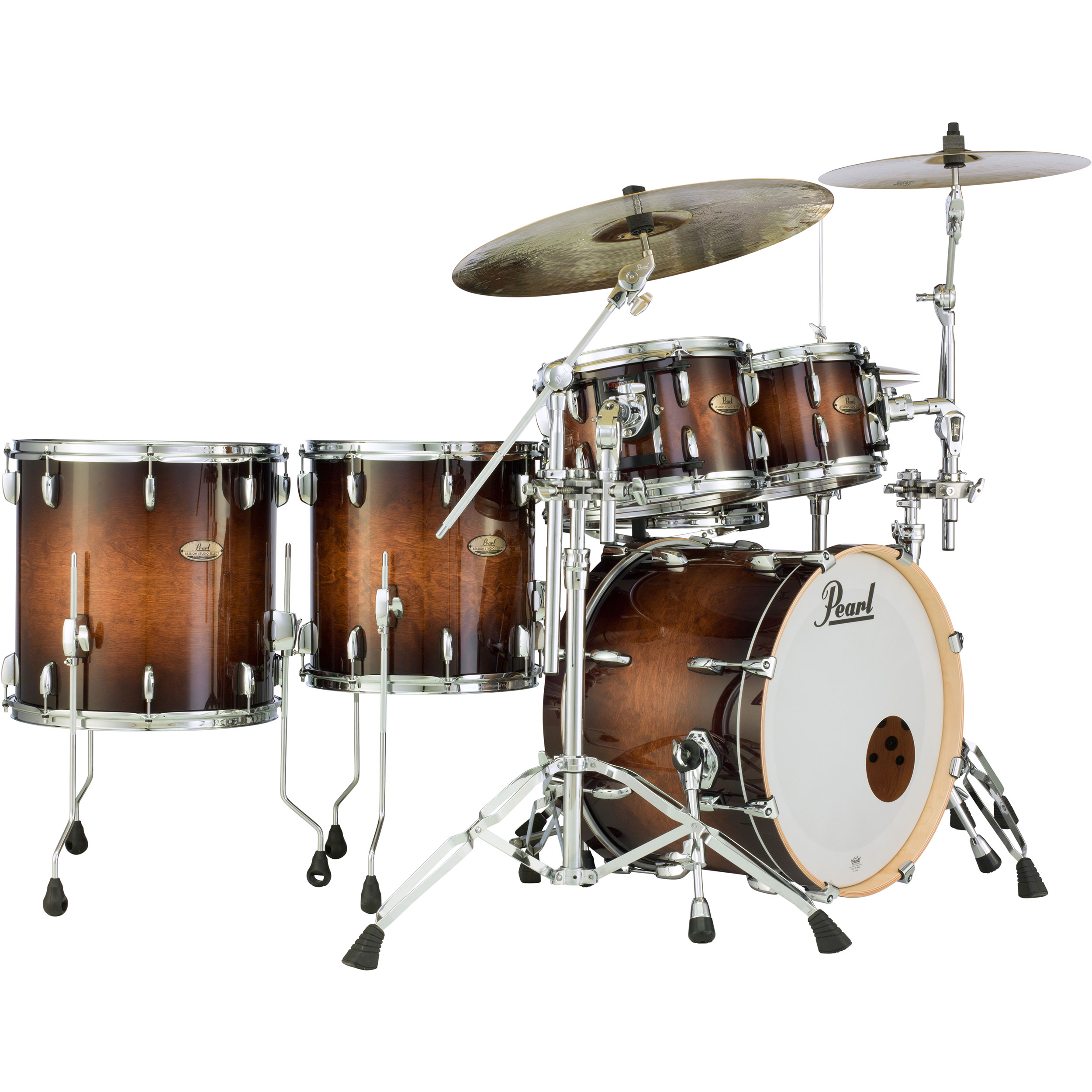 "Pearl Session Studio Select 5-Piece Drum Set Shell Pack (20"" Bass, 10/12/14/16"" Toms)"