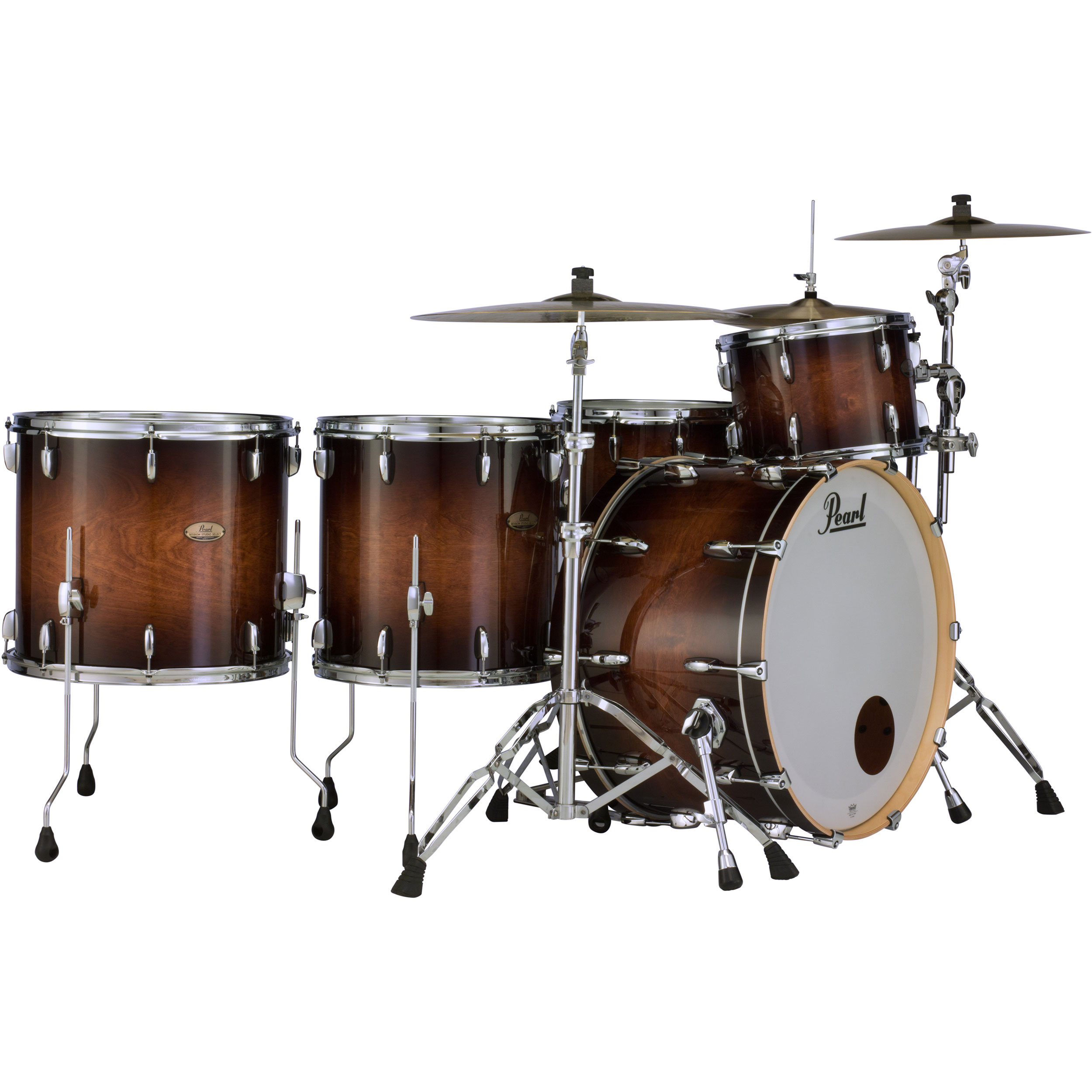 "Pearl Session Studio Select 4-Piece Drum Set Shell Pack (24"" Bass, 13/16/18"" Toms)"