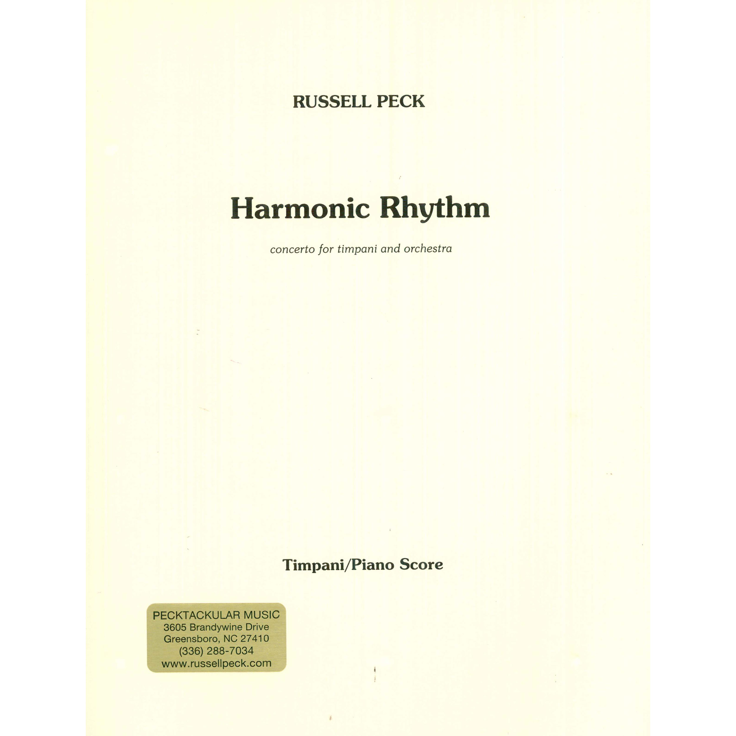 Harmonic Rhythm by Russell Peck (Piano Reduction)