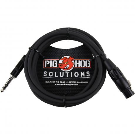 Pig Hog Solutions 10' Male TRS to Female XLR Balanced Cable