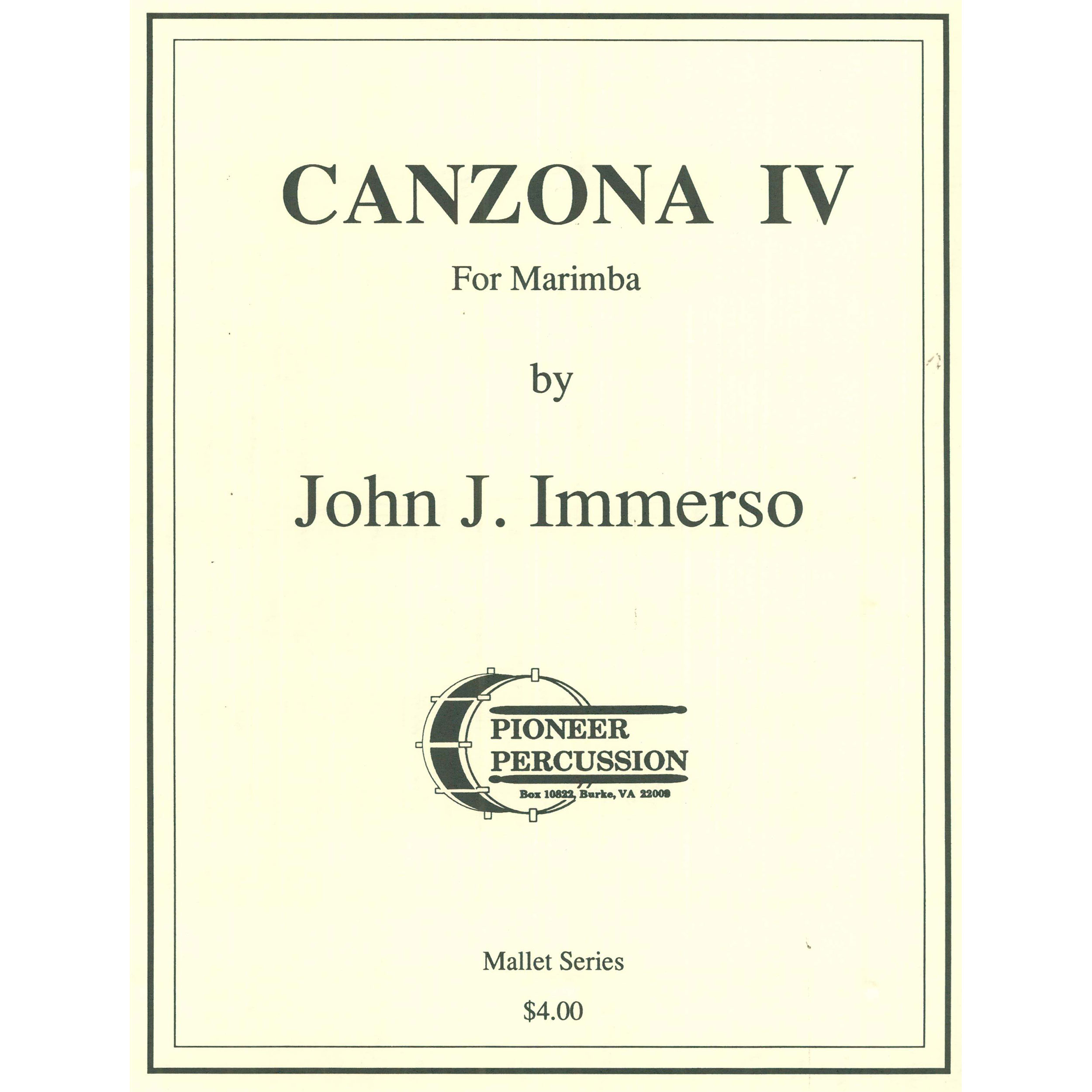 Canzona IV by John J. Immerso
