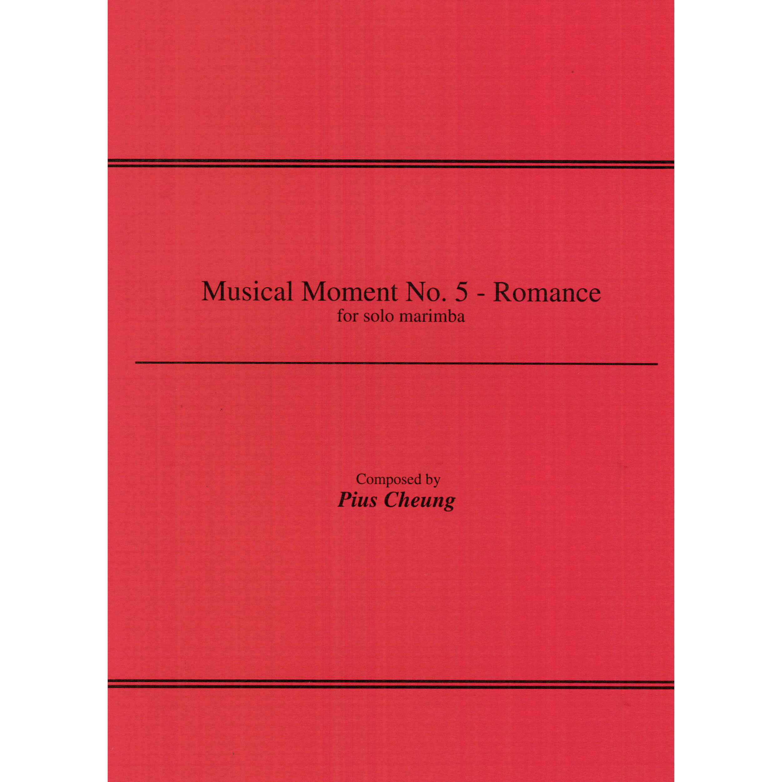 Musical Moment No. 5 - Romance by Pius Cheung