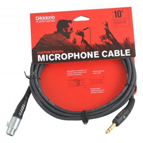 Planet Waves 10' Custom Series Microphone Cable (XLR Female to 1/4