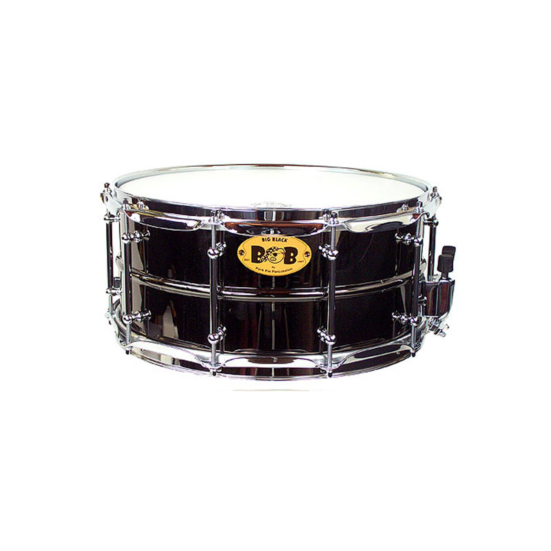 "Pork Pie Percussion 6.5"" x 14"" Big Black Brass Snare Drum"