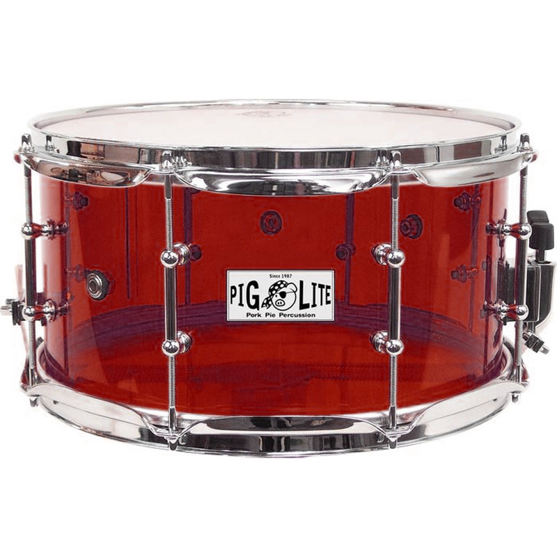 "Pork Pie 6"" x 14"" Red Acrylic Snare Drum"