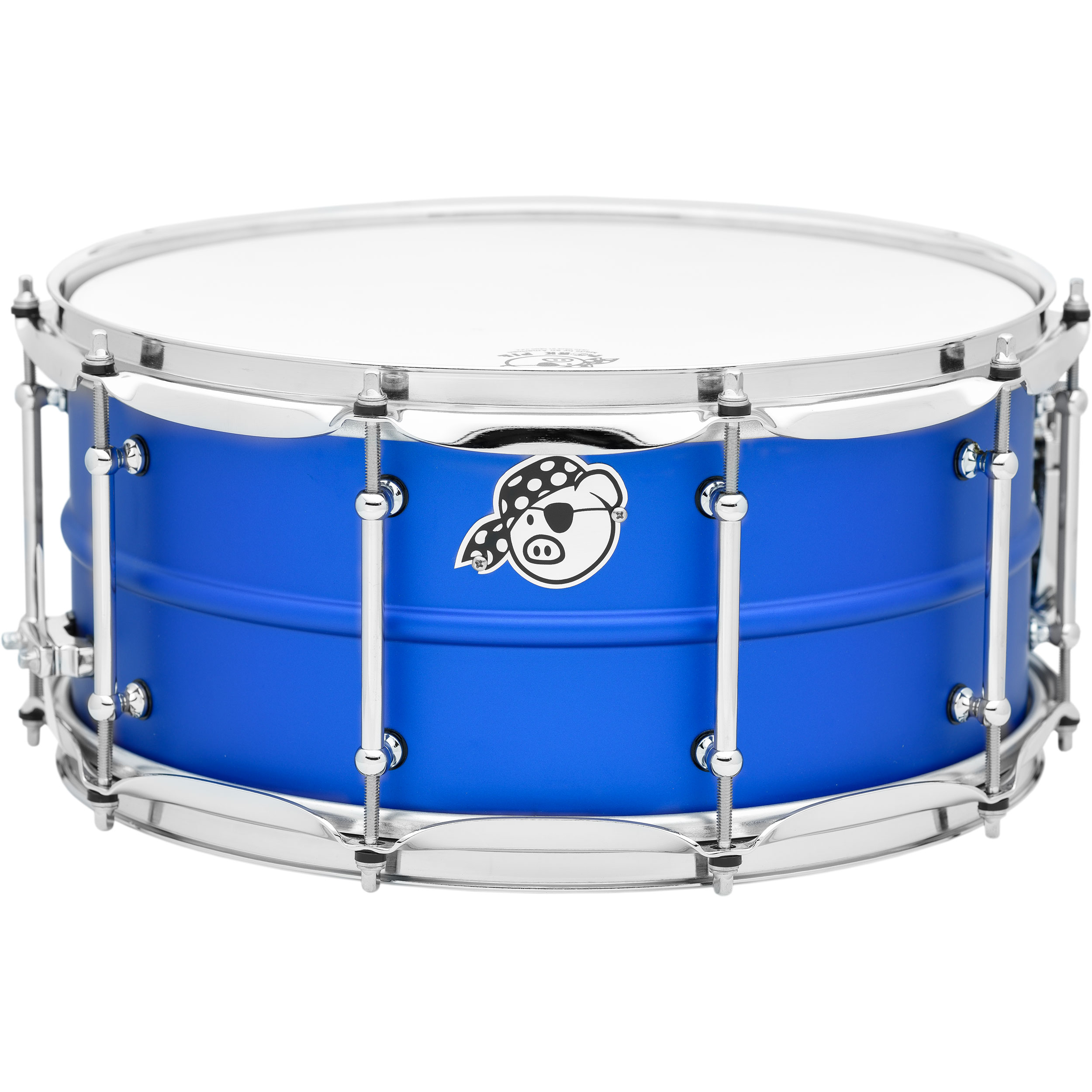 "Pork Pie Percussion 6.5"" x 14"" Seamless Aluminum Snare Drum Dodger Blue"