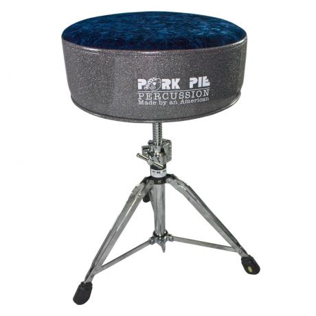 Pork Pie Percussion Round Top Charcoal Sparkle/Navy Crush Throne