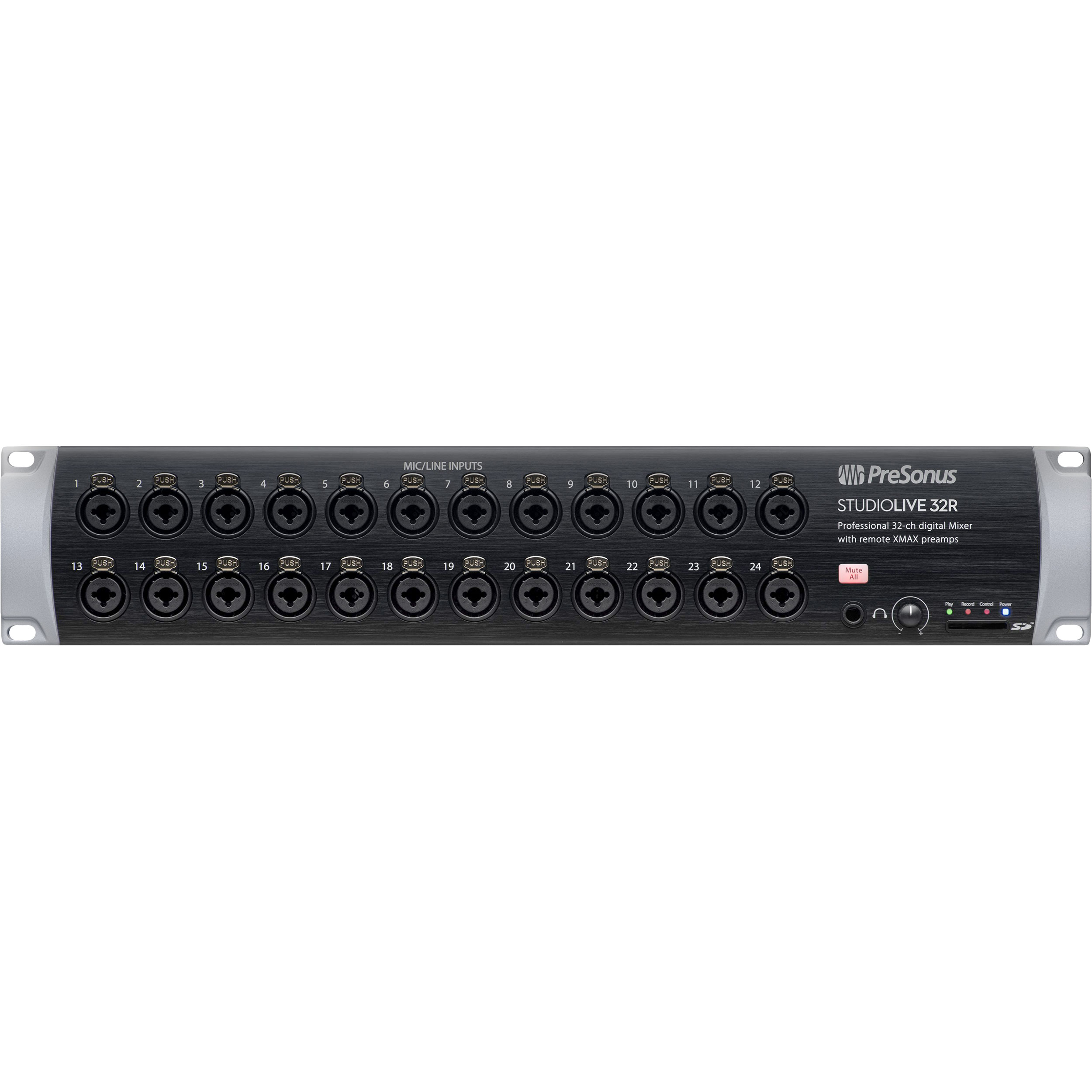 PreSonus 32-Channel Digital Rack Mixer with Recallable XMAX Preamps