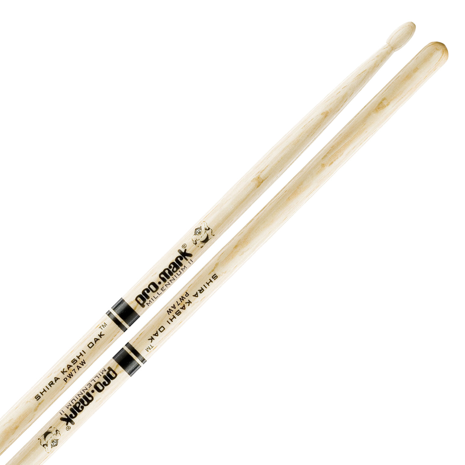 Promark Shira Kashi Oak 7A Wood Tip Drumsticks