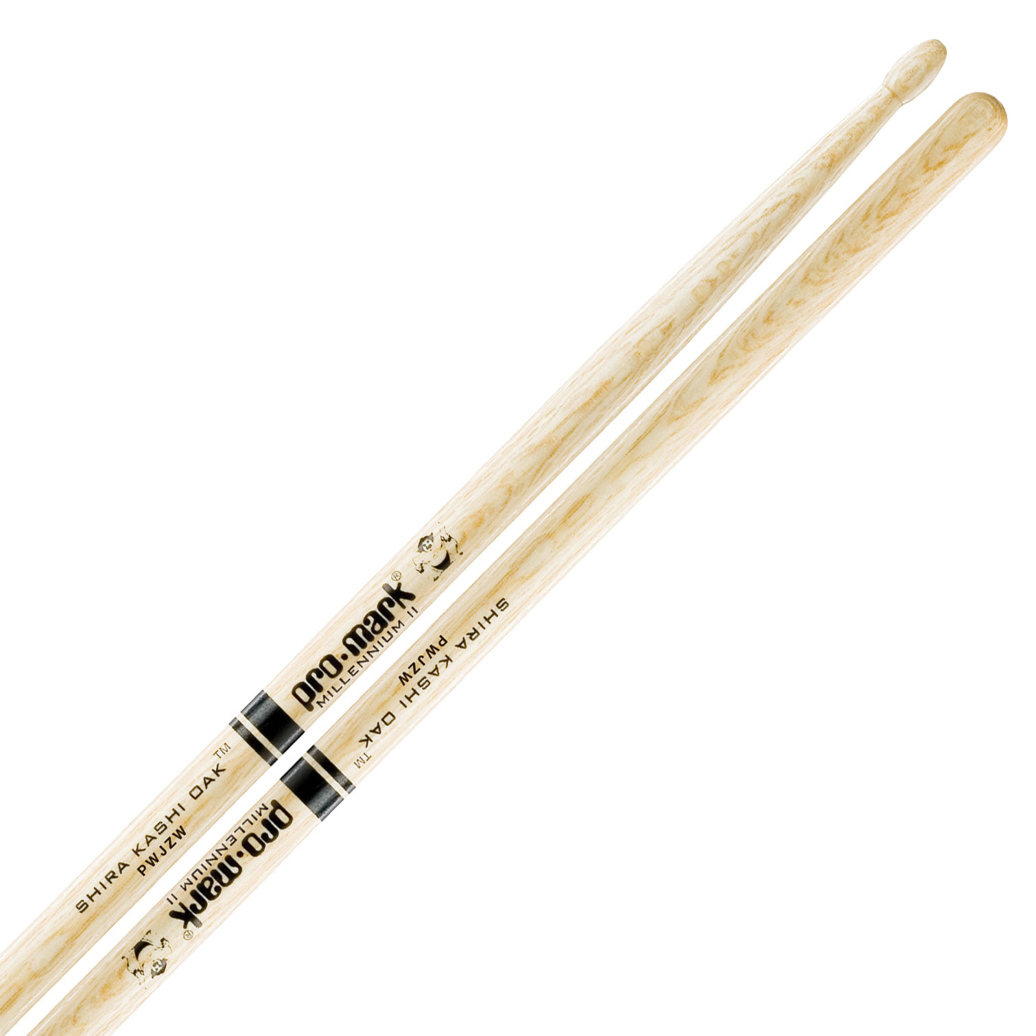 Promark Shira Kashi Oak Jazz Wood Tip Drumsticks