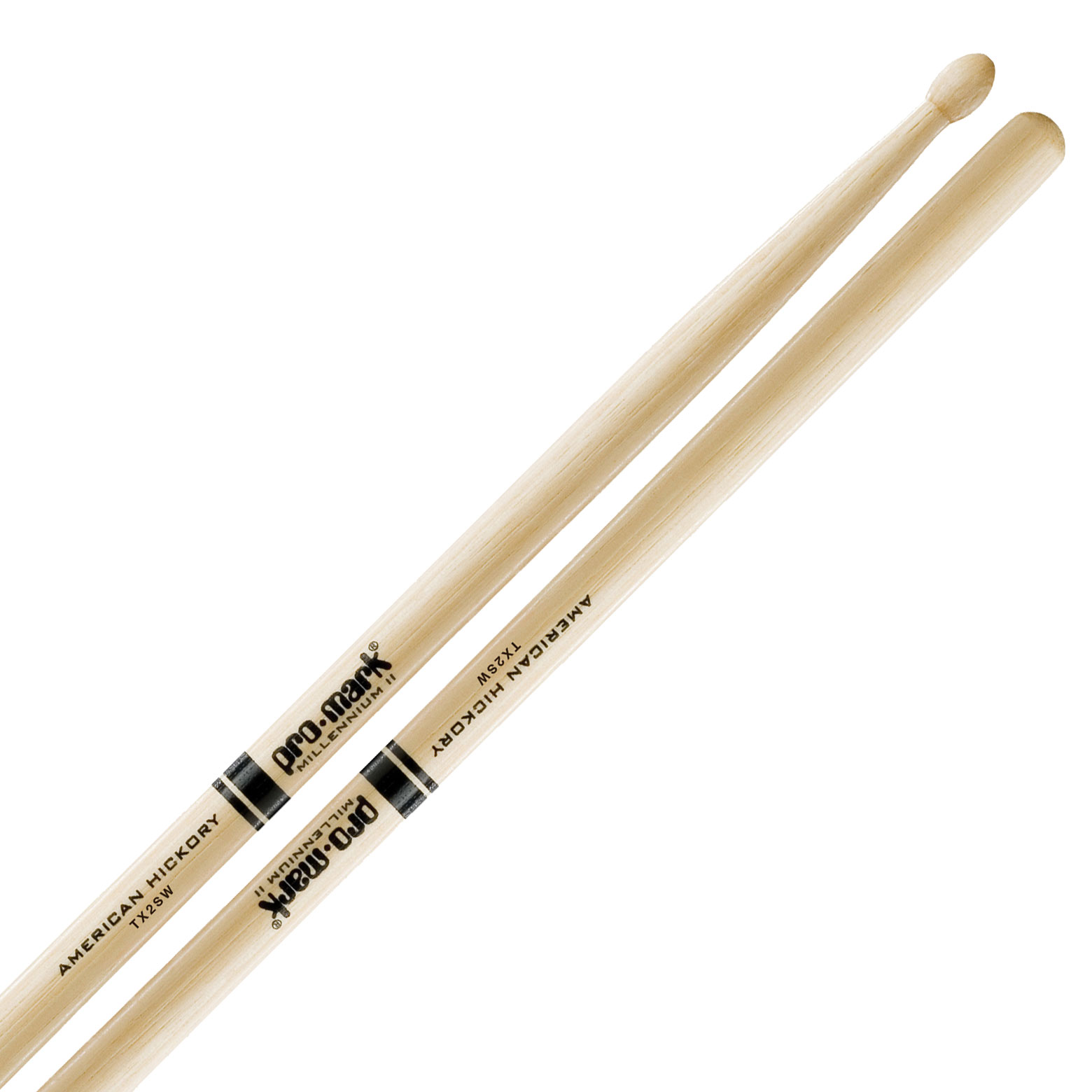 Promark American Hickory 2S Wood Tip Drumsticks