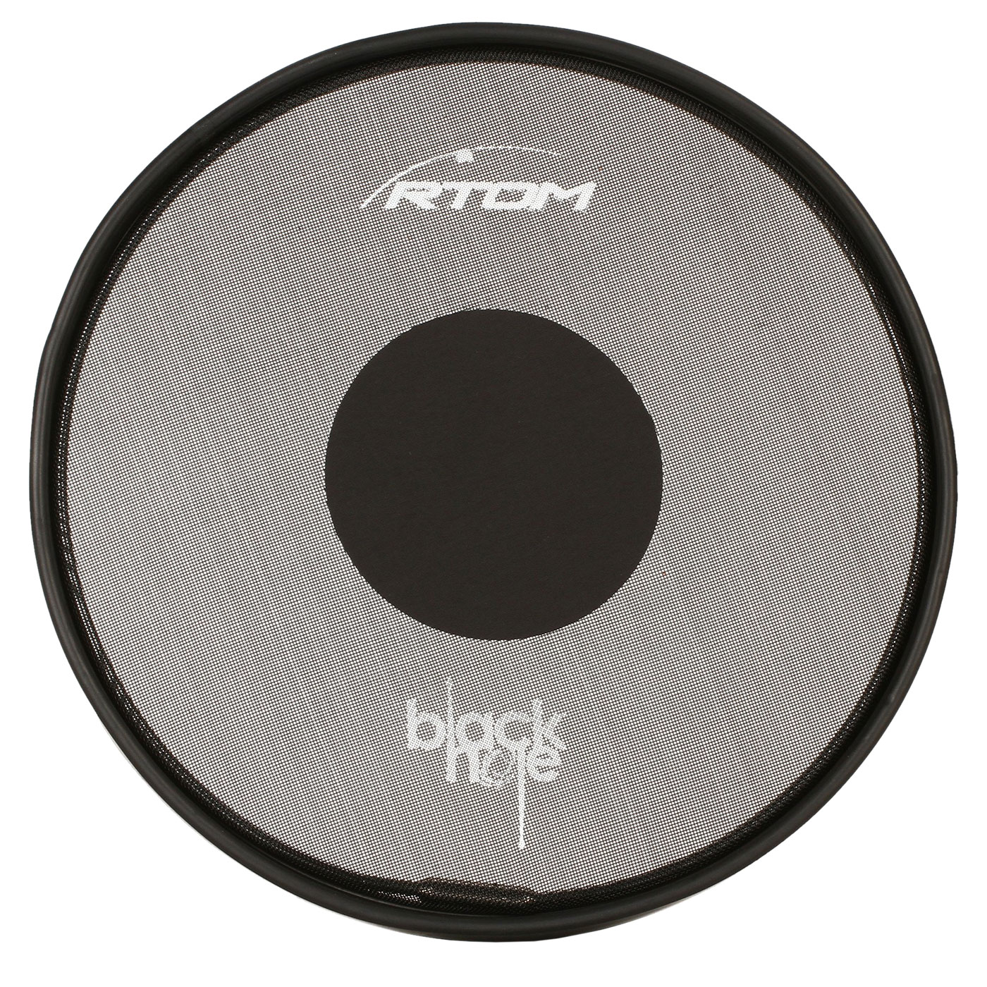 "RTOM 12"" Black Hole Snap-On Practice Pad with Tuneable Mesh Head"
