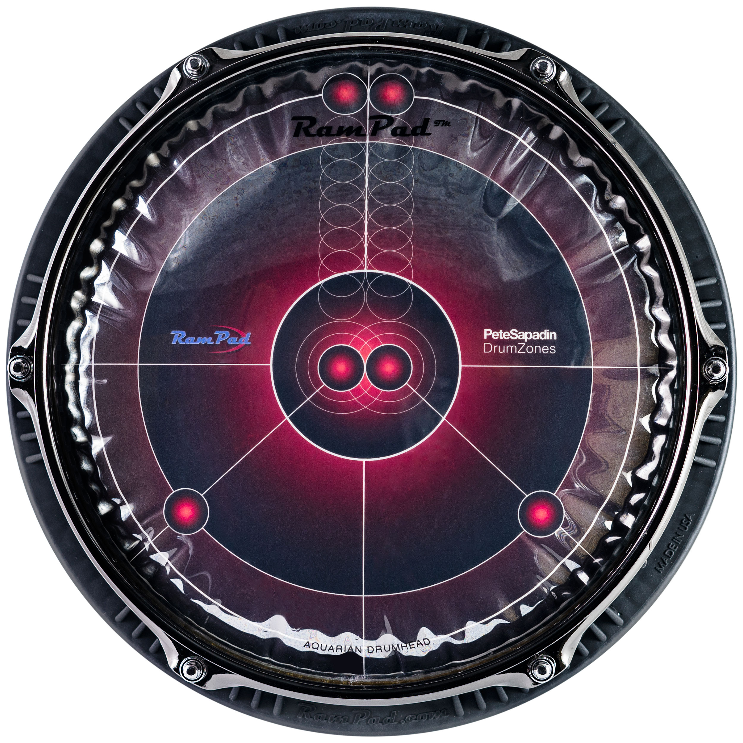 """Rampad 10"""" Rampad Pro with Red Surface and Playing Zones"""