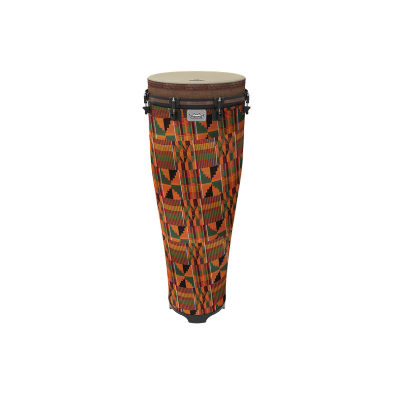 """Remo 14"""" x 40"""" Standing Ngoma in Fabric African Stripe"""