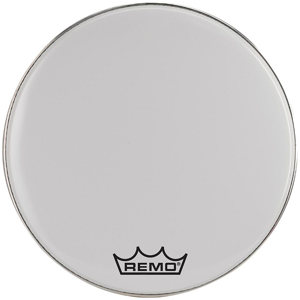 """Remo 28"""" Emperor Smooth White Crimplock Marching Bass Drum Head"""