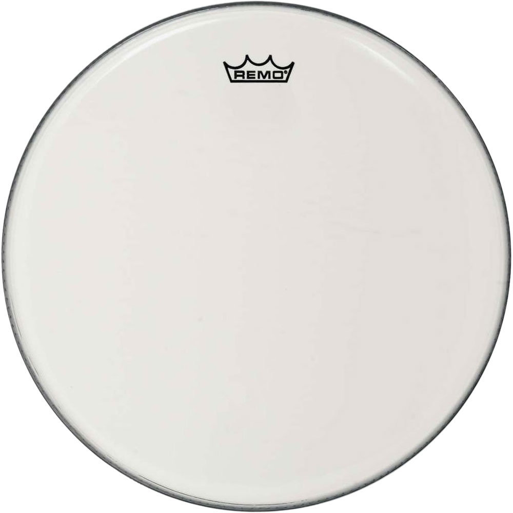 """Remo 16"""" Emperor Smooth White Crimplock Marching Bass Drum Head"""