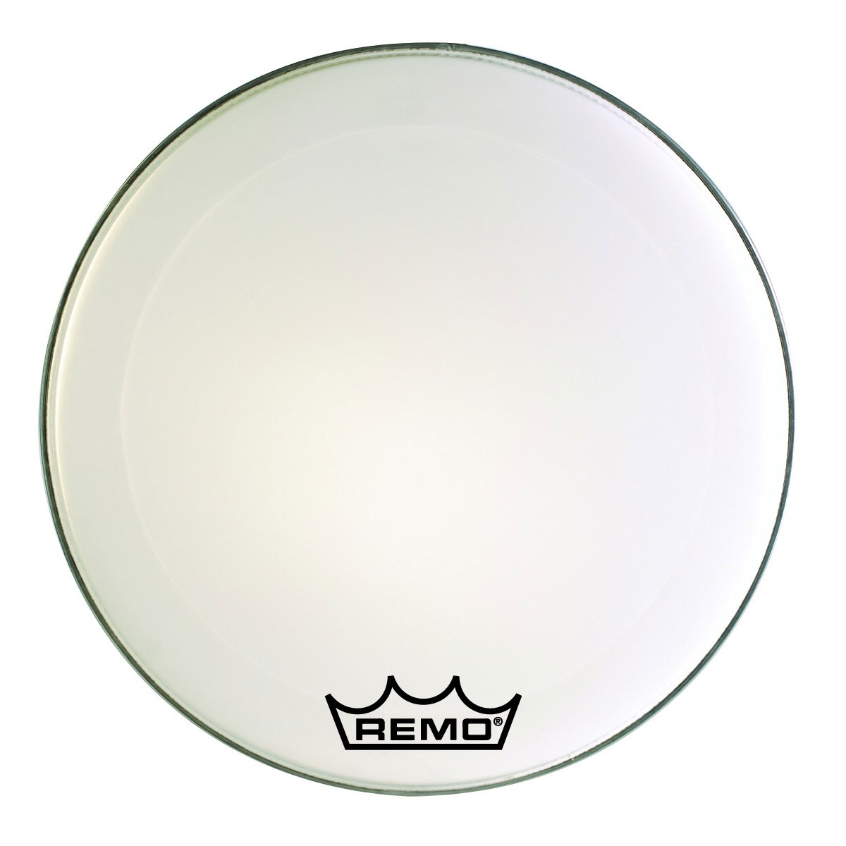 """Remo 24"""" Emperor Smooth White Crimplock Marching Bass Drum Head"""