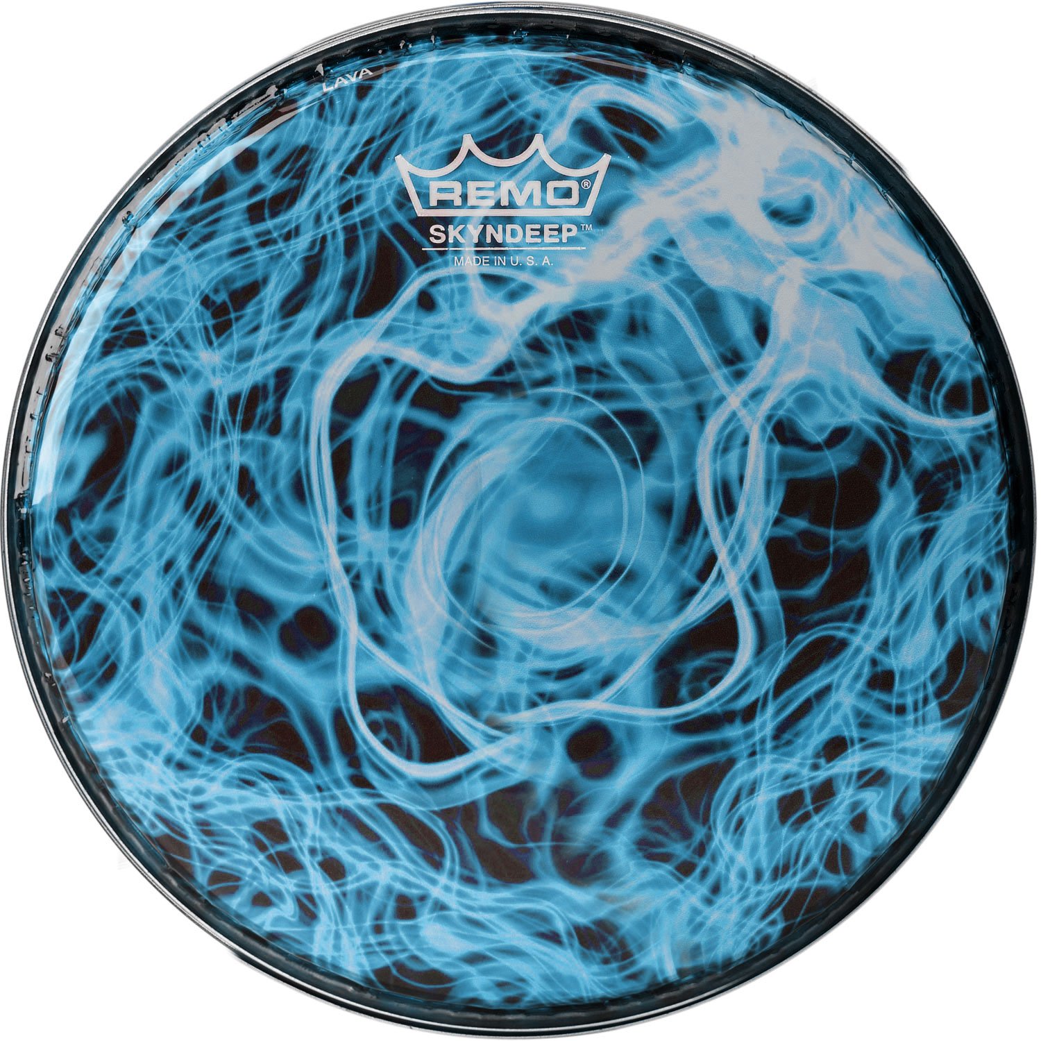 """Remo 10"""" R-Series Skyndeep Doumbek Drum Head with Turquoise Wave Graphic"""