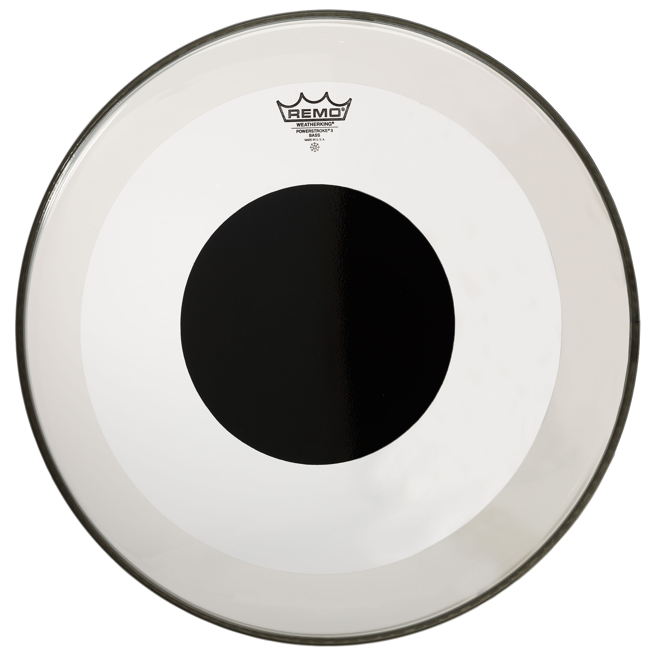 """Remo 6"""" Controlled Sound Clear Drum Head with Black Dot"""