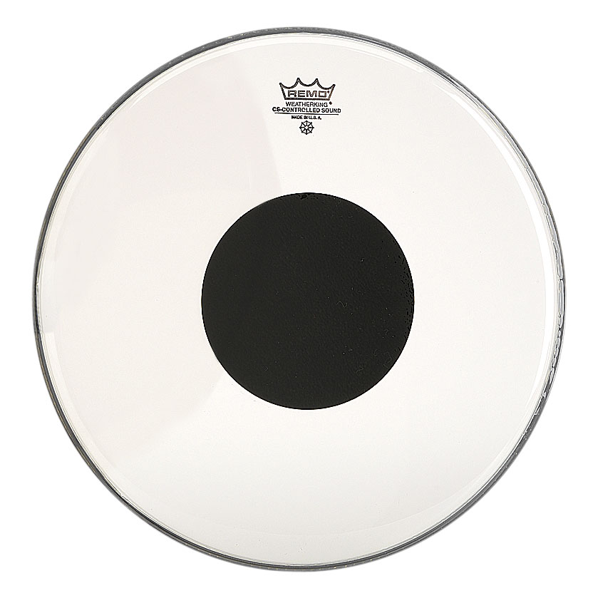 """Remo 14"""" Controlled Sound Clear Drum Head with Black Dot"""