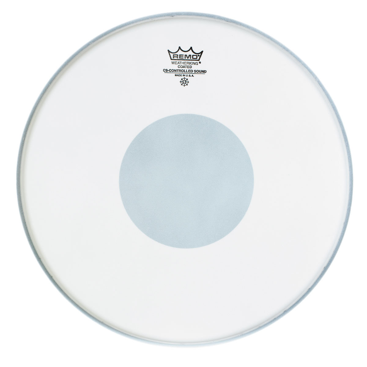 "Remo 13"" Controlled Sound Coated Drum Head with Black Dot"