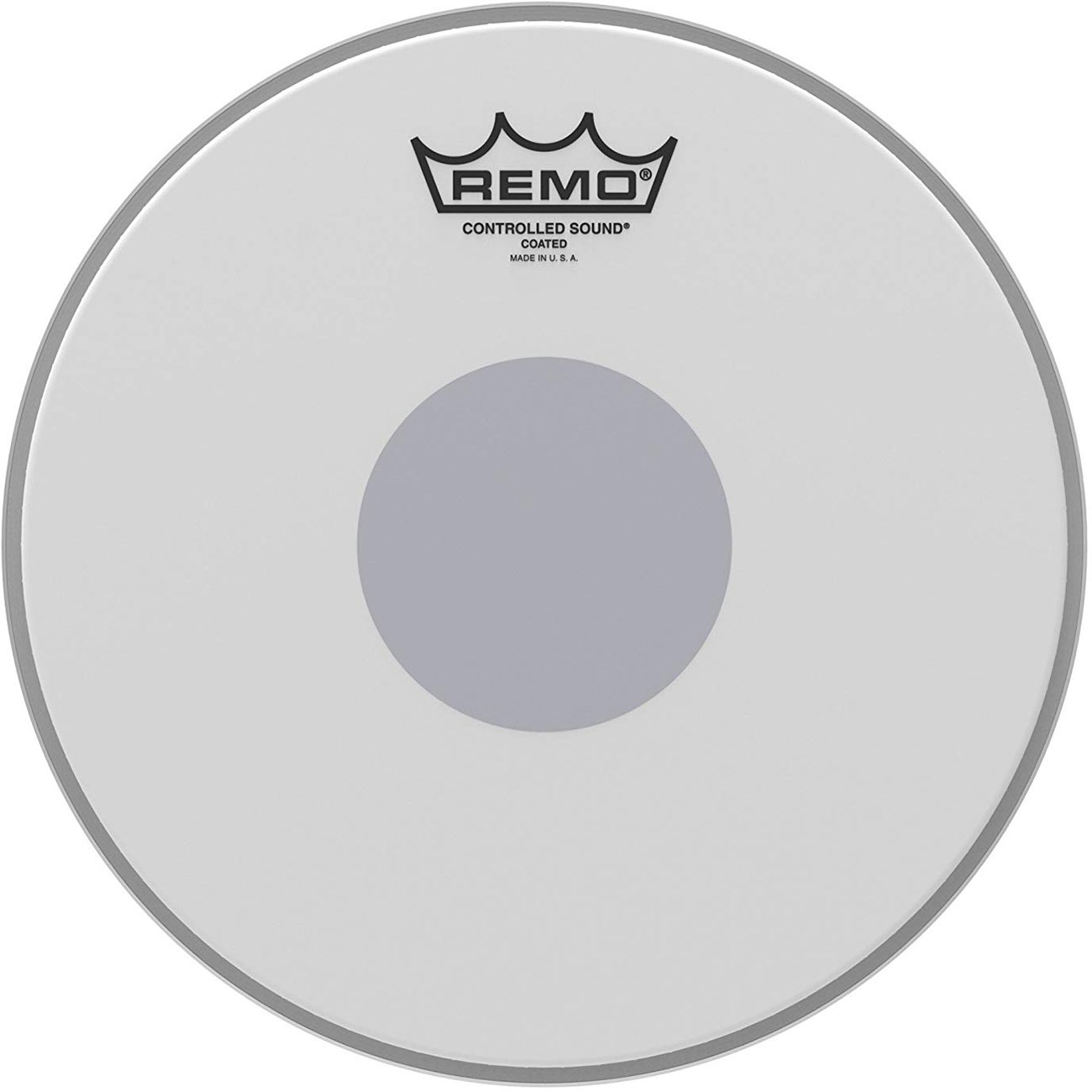 """Remo 15"""" Controlled Sound Coated Drum Head with Black Dot"""