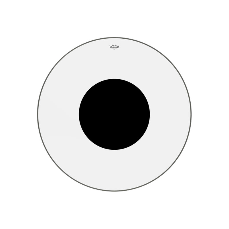 """Remo 40"""" Controlled Sound Clear Bass Drum Head with Black Dot"""