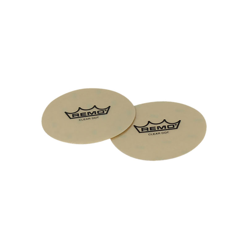 """Remo 4"""" Sound Control Clear Dot Patch (2-Pack)"""