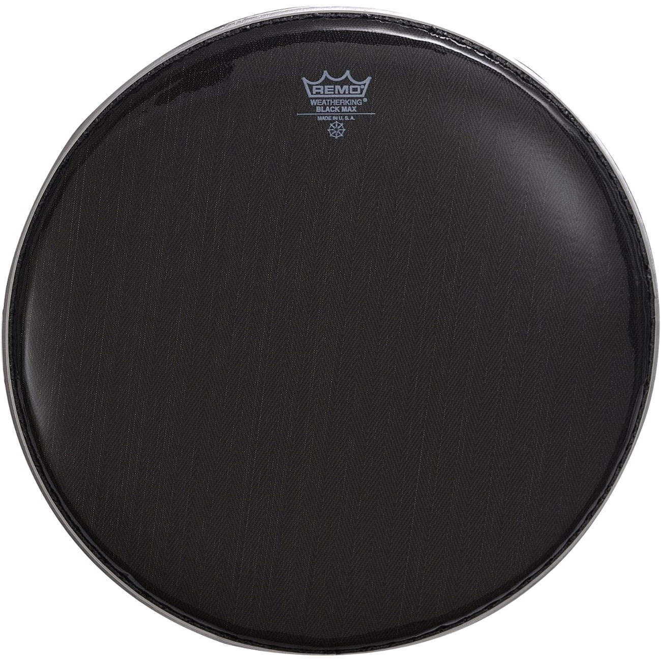 """Remo 14"""" Black Max Marching Snare Drum Top (Batter) Head with Mylar Bottom Ply"""