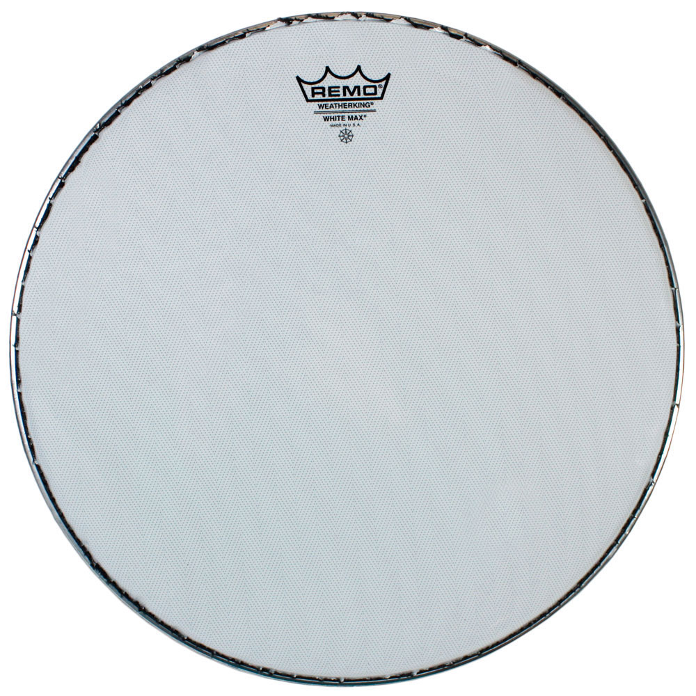 "Remo 13"" White Max Marching Snare Drum Top (Batter) Head with Mylar Bottom Ply"