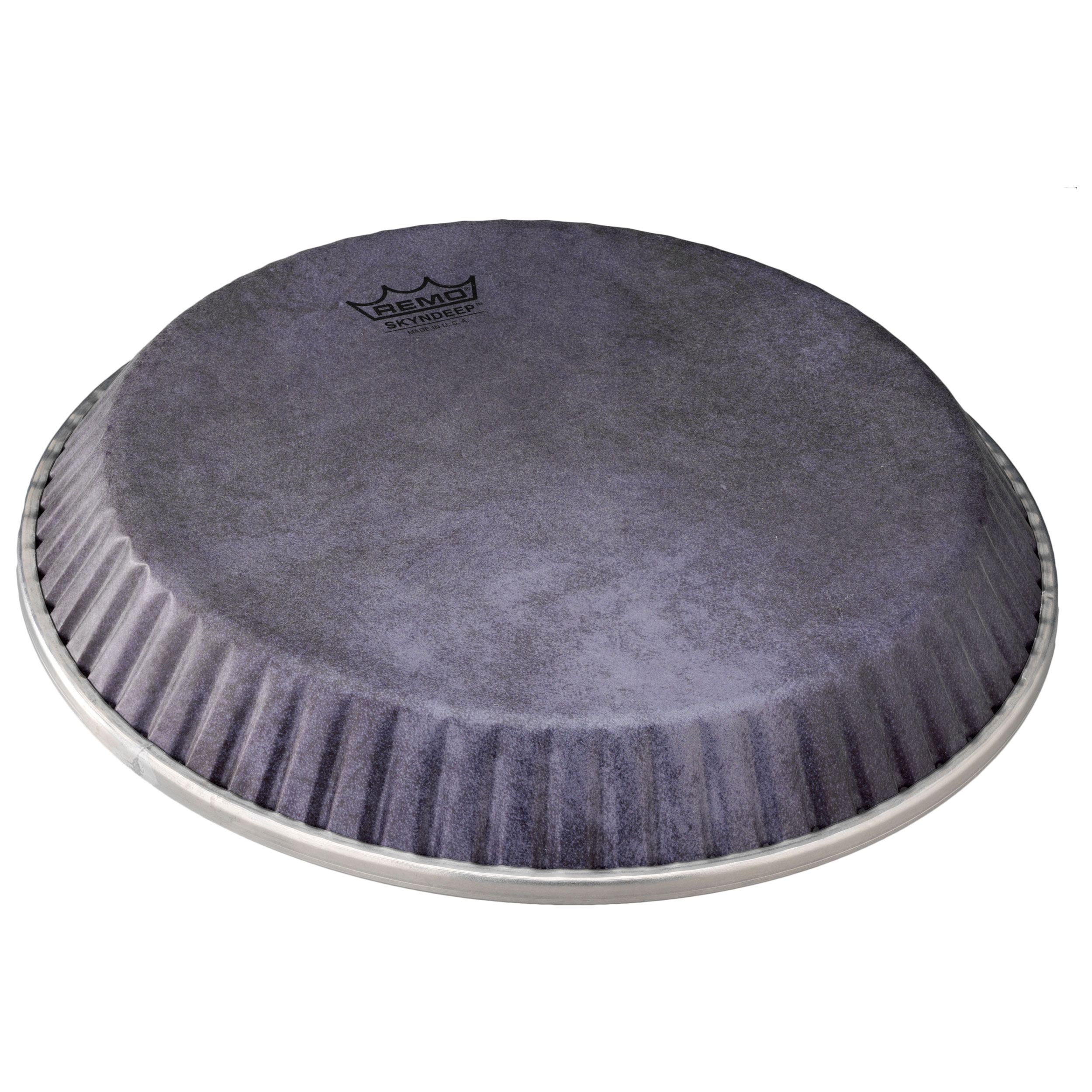 """Remo 9.75"""" Symmetry Skyndeep Conga Drum Head (D2 Collar) with Black Calfskin Graphic"""