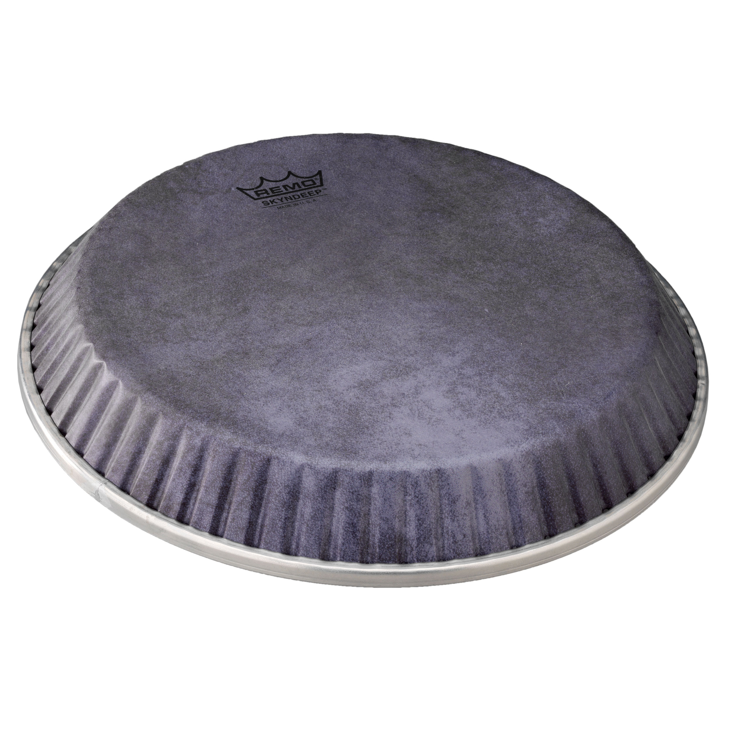 """Remo 10.75"""" Symmetry Skyndeep Conga Drum Head (D1 Collar) with Black Calfskin Graphic"""