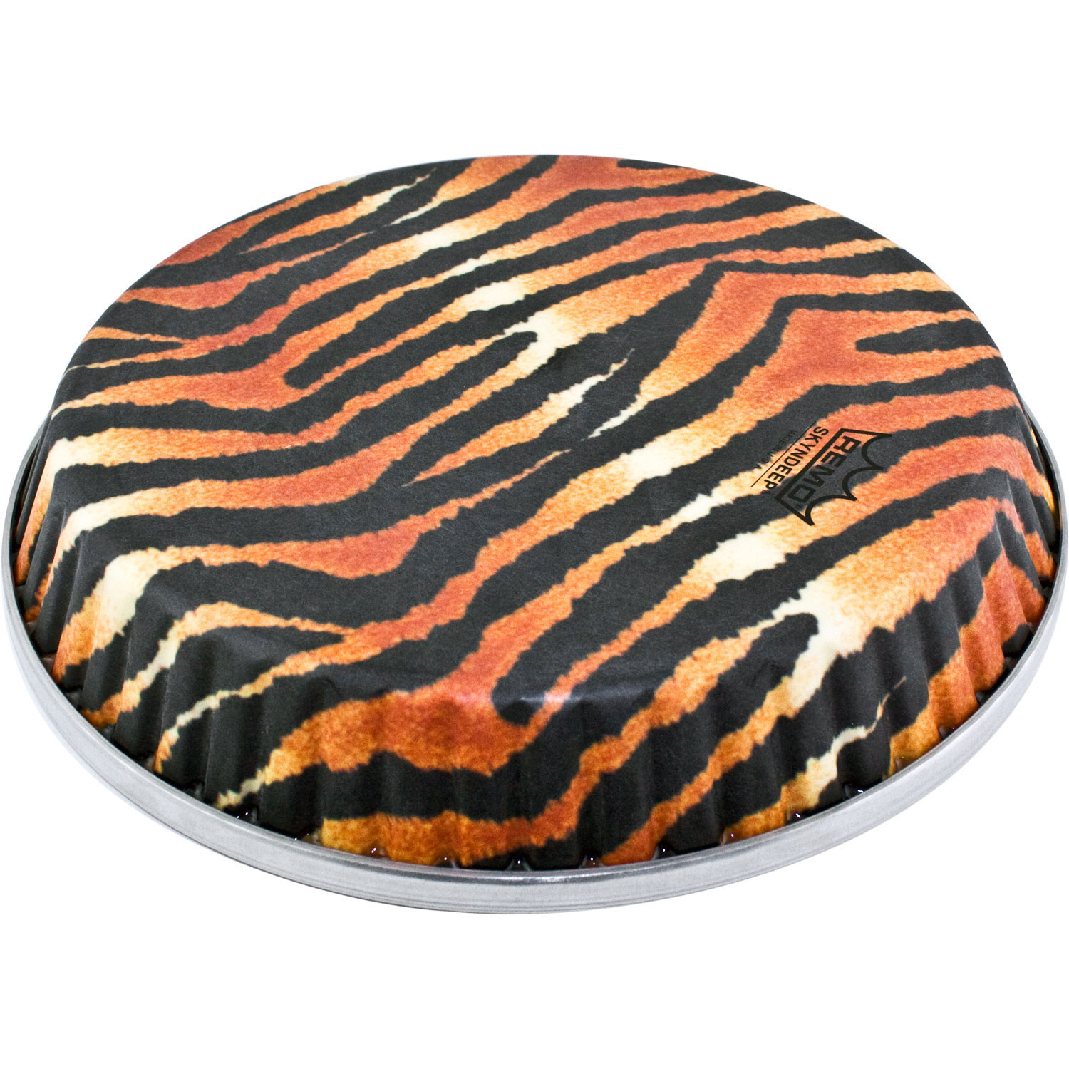 """Remo 12.5"""" Symmetry Skyndeep Conga Drum Head (D2 Collar) with Tiger Stripe Graphic"""