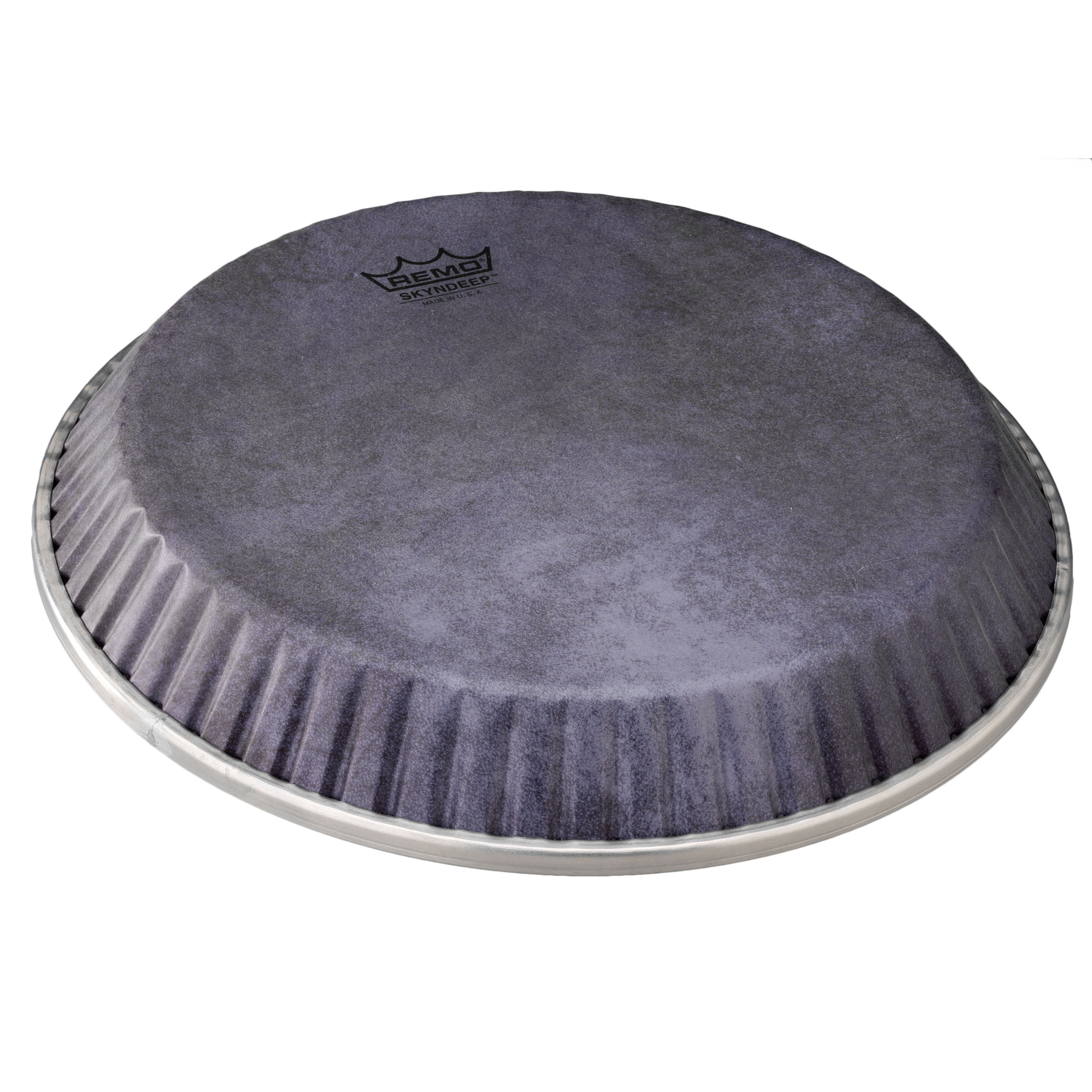 """Remo 10.75"""" Symmetry Skyndeep Conga Drum Head (D2 Collar) with Black Calfskin Graphic"""