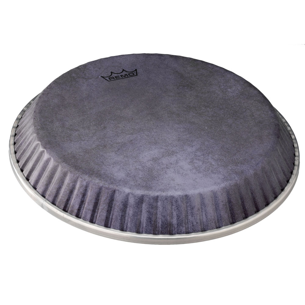 """Remo 11.06"""" Symmetry Symmetry Conga Drum Head (D2 Collar) with Black Calfskin Graphic"""
