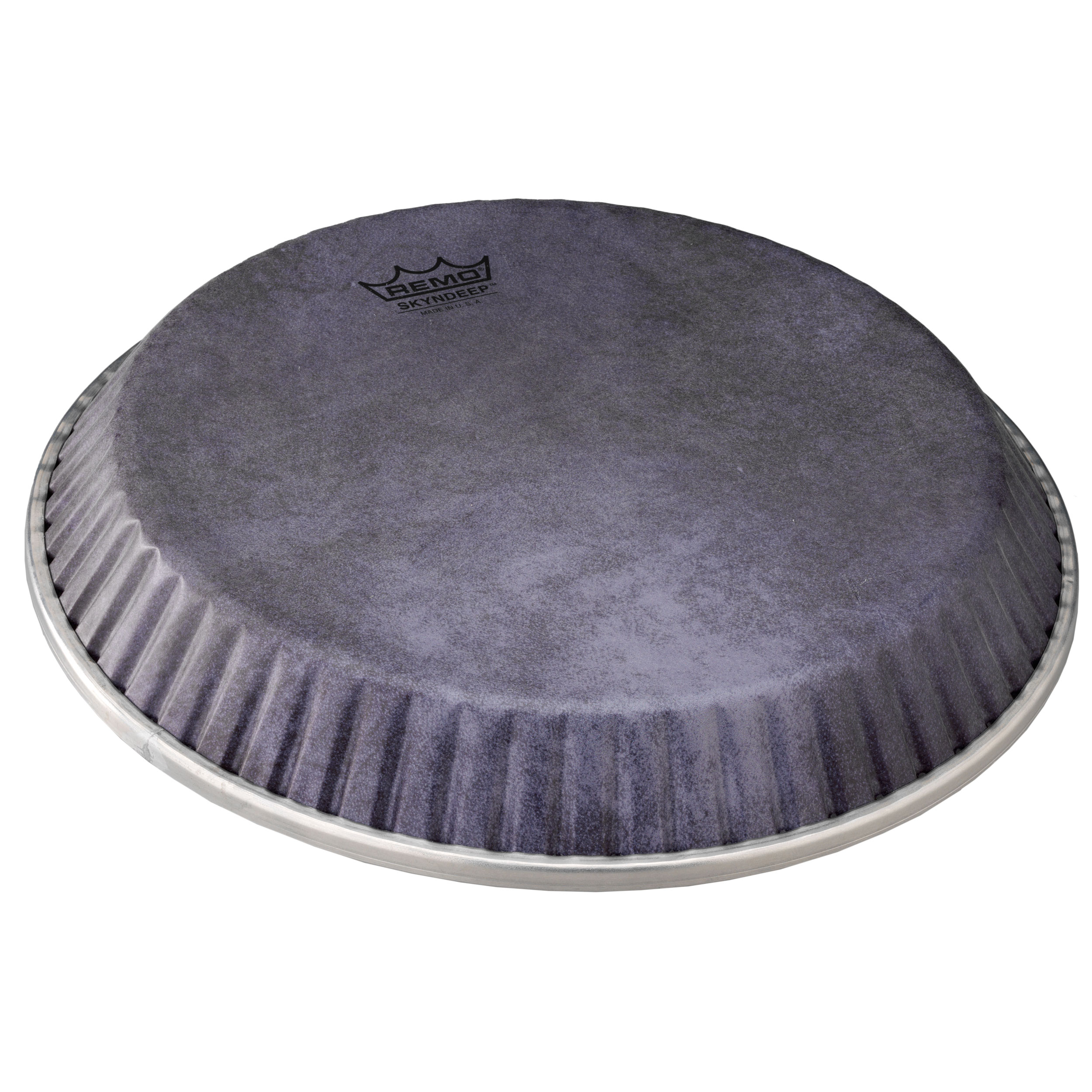 """Remo 12.25"""" Symmetry Skyndeep Conga Drum Head (D1 Collar) with Black Calfskin Graphic"""