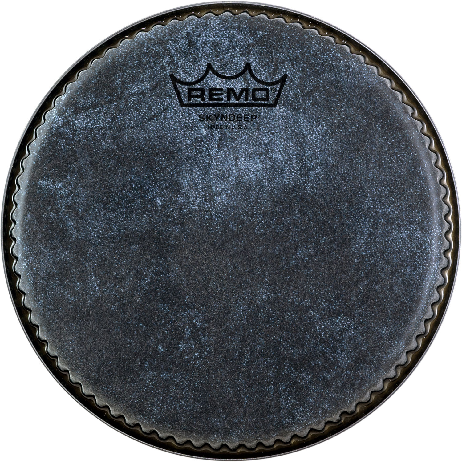 "Remo 7.15"" R-Series Skyndeep Bongo Drum Head with Black Calfskin Graphic"
