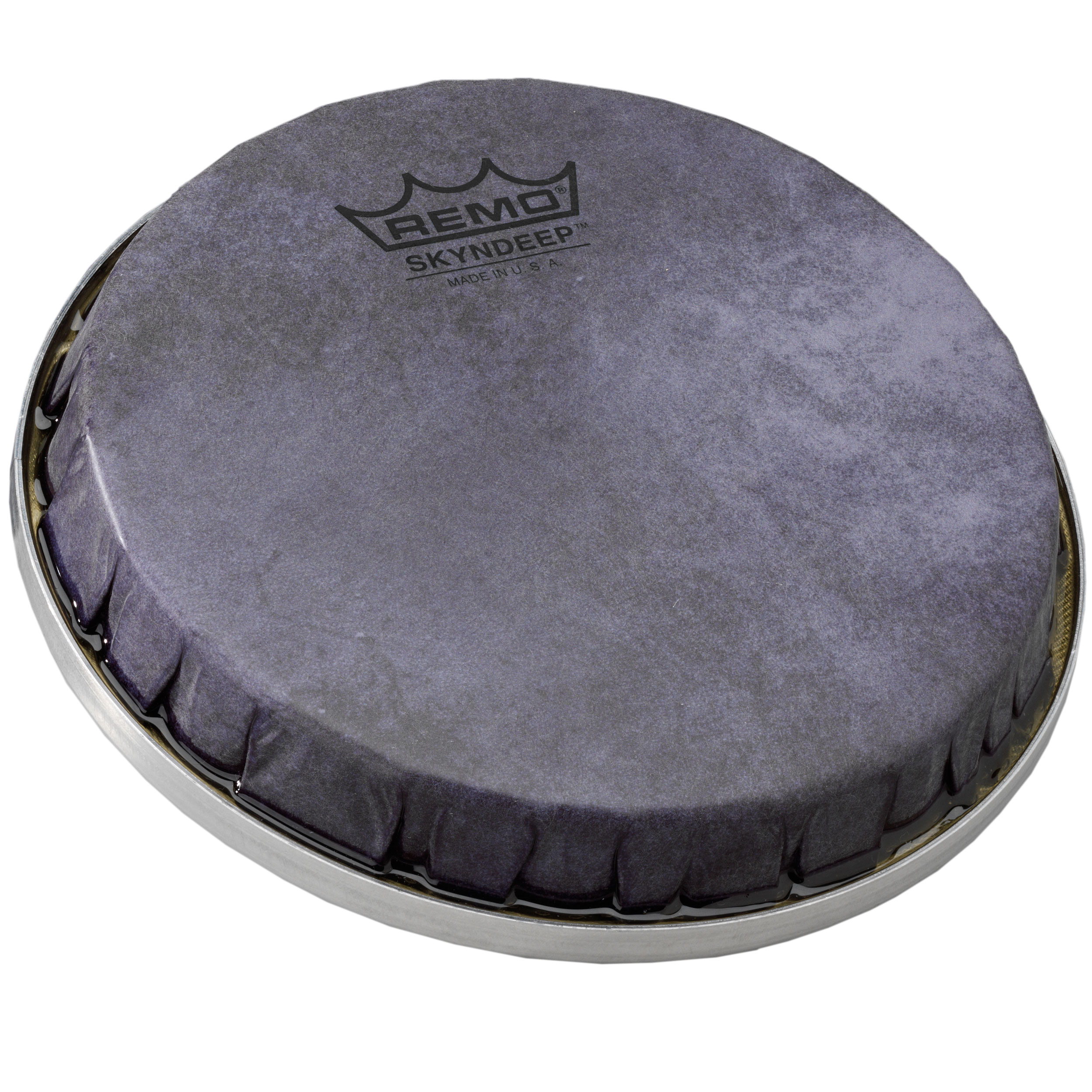 "Remo 8.8"" R-Series Skyndeep Bongo Drum Head with Black Calfskin Graphic"