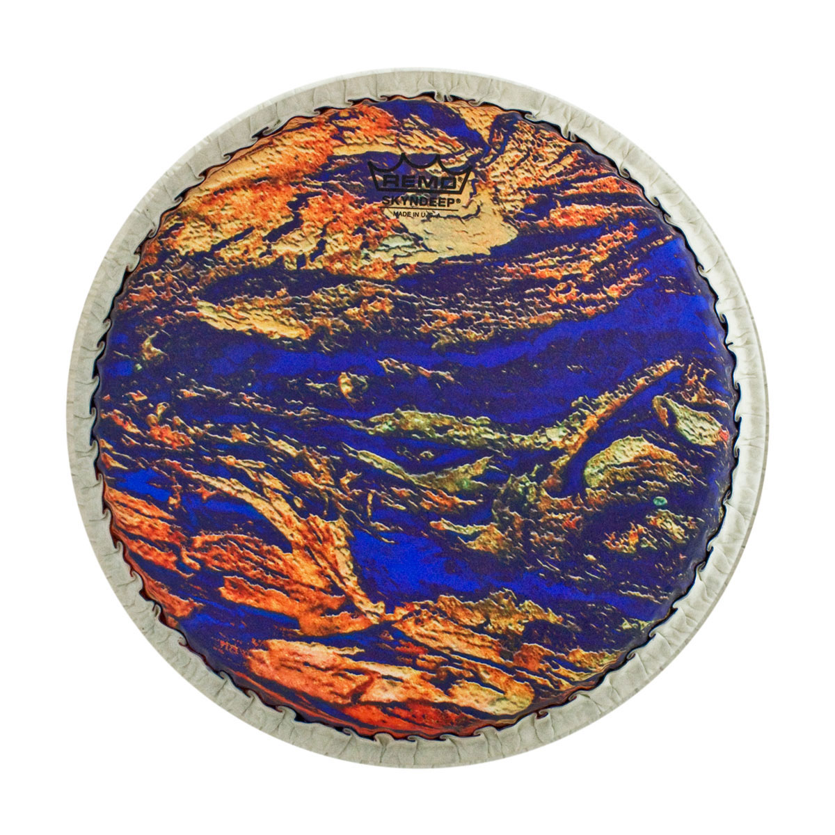 """Remo 12.5"""" Tucked Skyndeep Conga Drum Head with Molten Sea Graphic"""