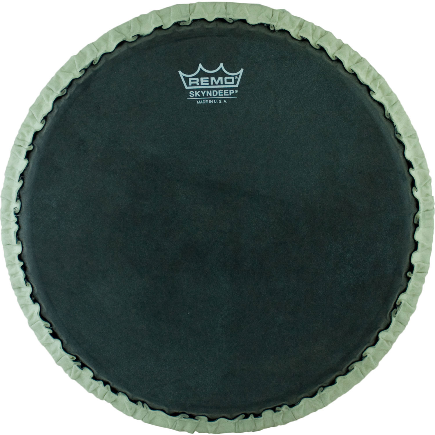 """Remo 12.5"""" Tucked Skyndeep Conga Drum Head with Black Calfskin Graphic"""
