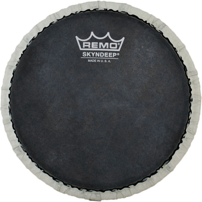 "Remo 7.15"" Tucked Skyndeep Bongo Drum Head with Black Calfskin Graphic"