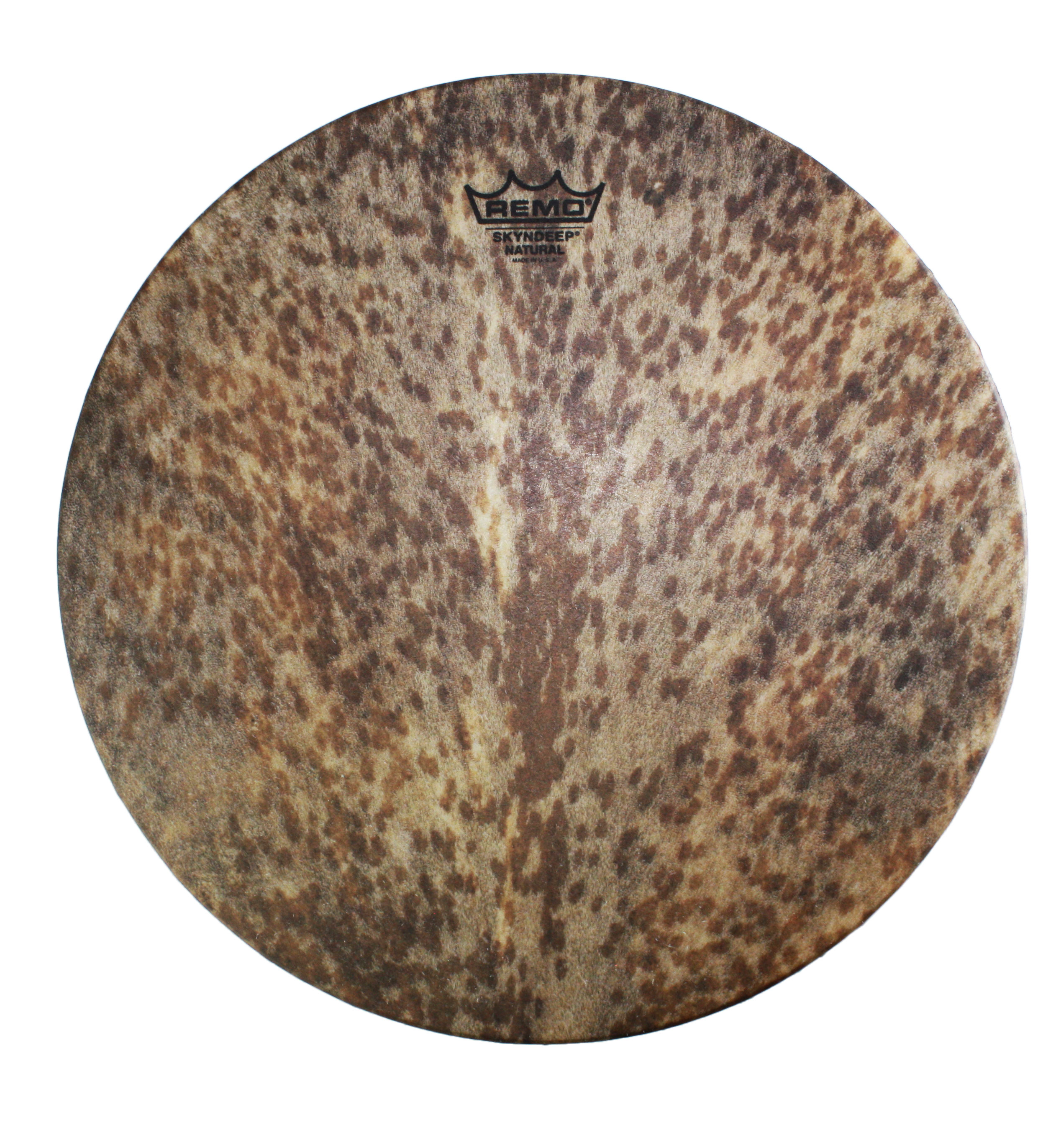 """Remo 14"""" Mondo Skyndeep Djembe Drum Head with Goat Stripe Brown Graphic"""