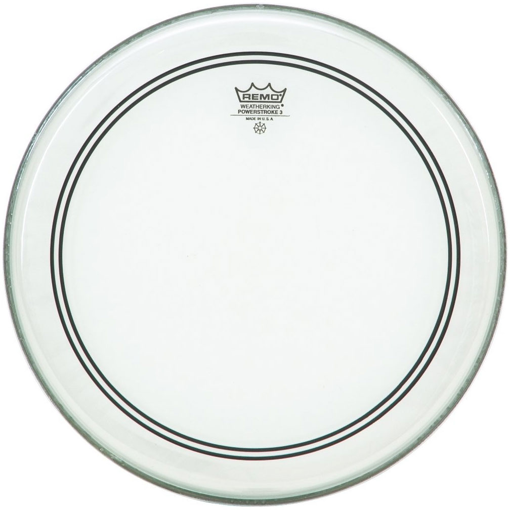 "Remo 13"" Powerstroke P3 Clear Drum Head with Clear Dot"