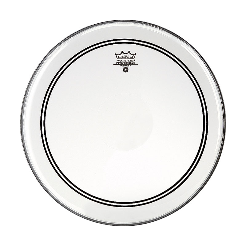 """Remo 14"""" Powerstroke P3 Clear Drum Head with Clear Dot"""