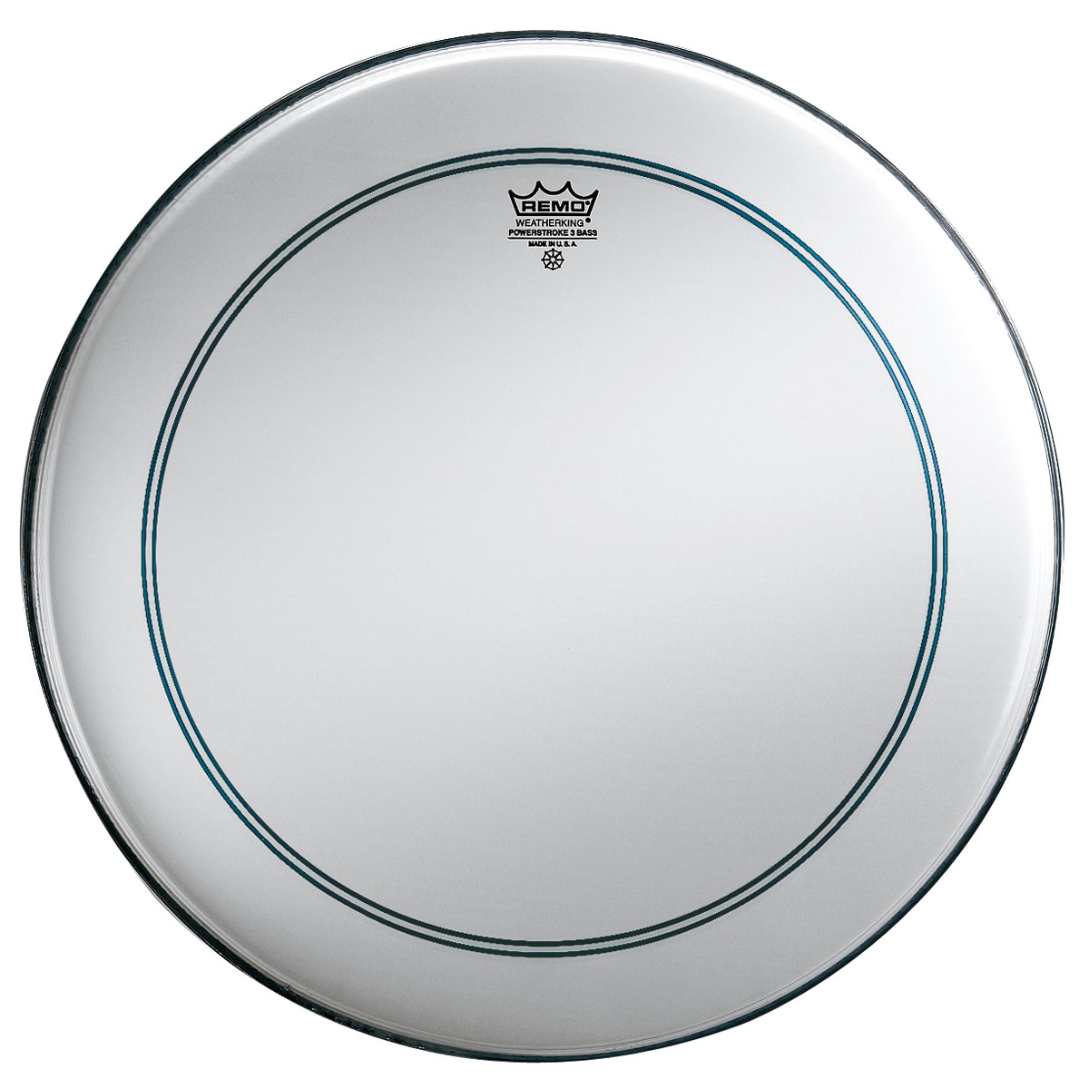 "Remo 26"" Powerstroke P3 Coated Bass Drum Head with Falam Patch"