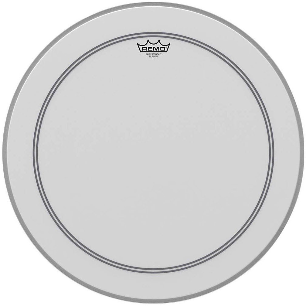"""Remo 28"""" Powerstroke P3 Coated Bass Drum Head with Falam Patch"""