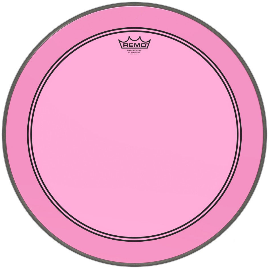 "Remo 24"" Powerstroke P3 Colortone Pink Bass Drum Head"