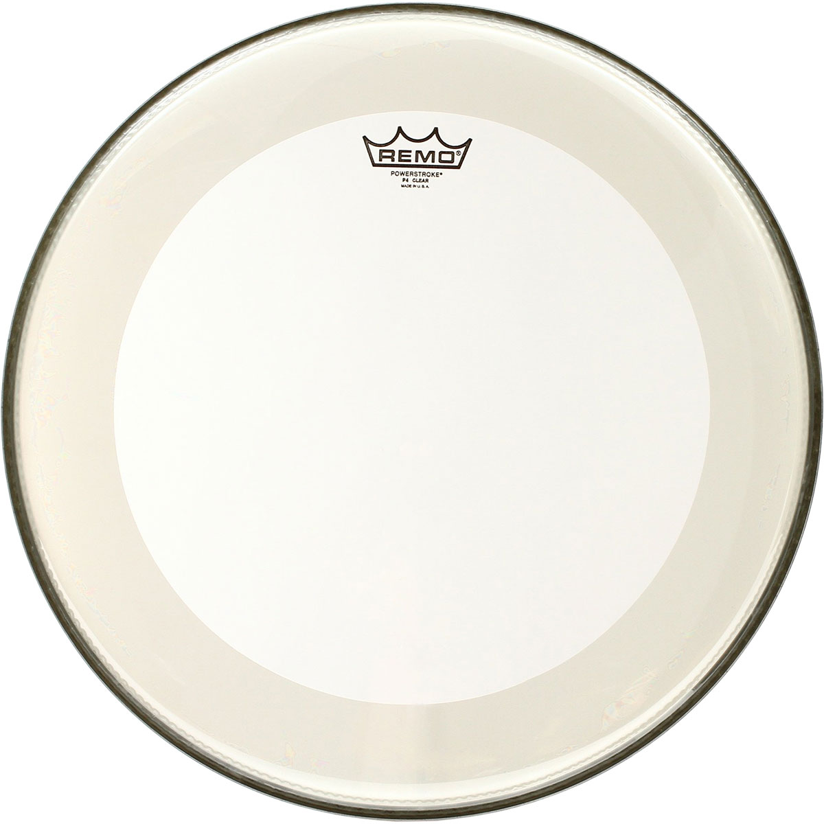 "Remo 18"" Powerstroke P4 Clear Bass Drum Head with Falam Patch"